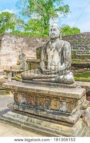The Buddha Statue In Vatadage Of Polonnaruwa
