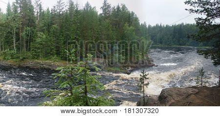 Threshold Canyon on the river Uuksa in Karelia