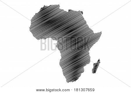 map of Africa vector illustration , scribble sketch of Africa