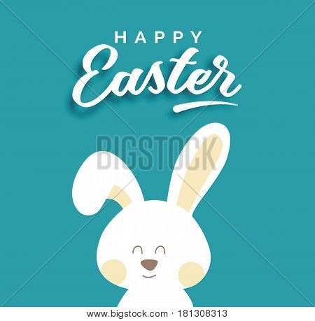 Easter rabbit background card. Happy easter card. Vector stock.