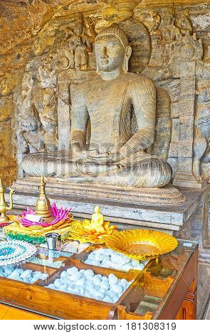 The Buddha Statue In Cave Of Rock Temple