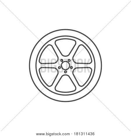 Car wheel icon. Vector illustration eps 10