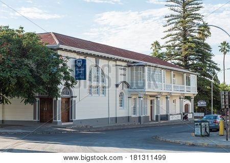 GRAAFF REINET SOUTH AFRICA - MARCH 23 2017: An historic old building dated 1862 in Graaff Reinet in the Eastern Cape Province