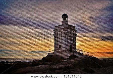 Landscape with Lighthouse at Stomneuspunt St Helena Bay