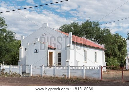 ABERDEEN SOUTH AFRICA - MARCH 23 2017: The Full Gospel Church in Aberdeen a small town in the Eastern Cape Province