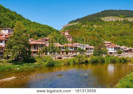 Houses on the Bank of River in Veliko Tarnovo Bulgaria