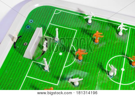 Table Football. A Little-known Variant Of A Favourite Game. Up-view On The Field