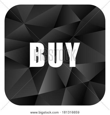 Buy black color web modern brillant design square internet icon on white background.
