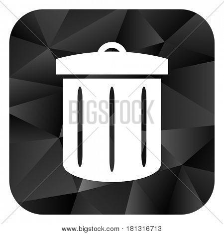 Recycle black color web modern brillant design square internet icon on white background.