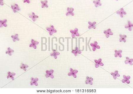 background with lilac flowers on rice paper