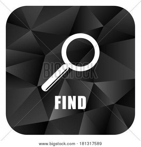 Find black color web modern brillant design square internet icon on white background.