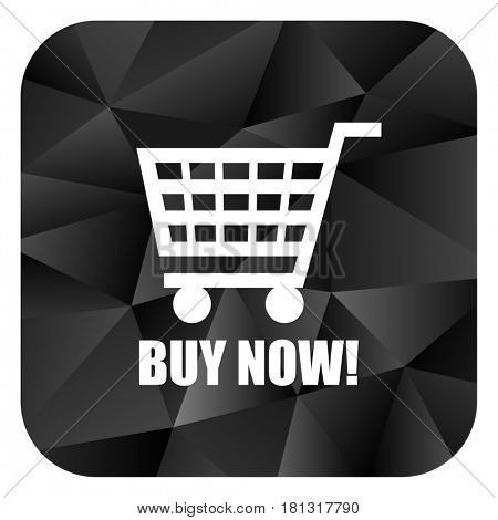 Buy now black color web modern brillant design square internet icon on white background.