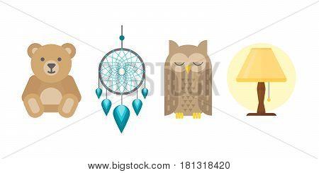Sleep time icon flat isolated vector illustration. Sleep icon set sweat dream. Night rest human sleep icon.