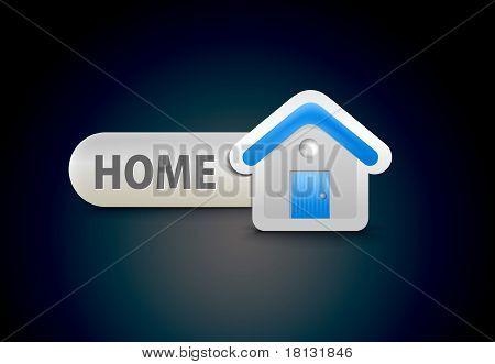 web home icon design element.