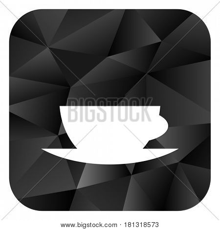 Espresso black color web modern brillant design square internet icon on white background.