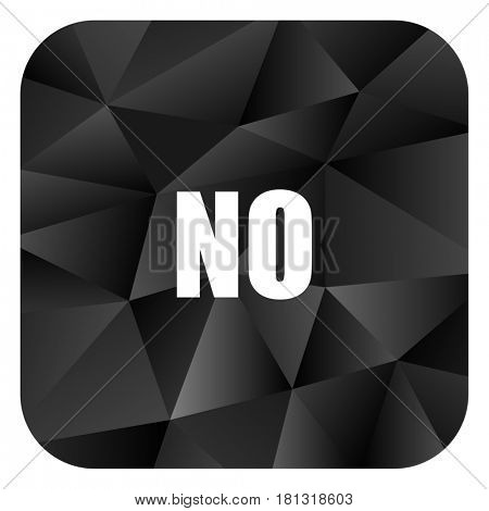 No black color web modern brillant design square internet icon on white background.