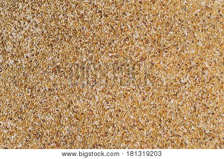 Coloured plaster surface of the coarse sand background