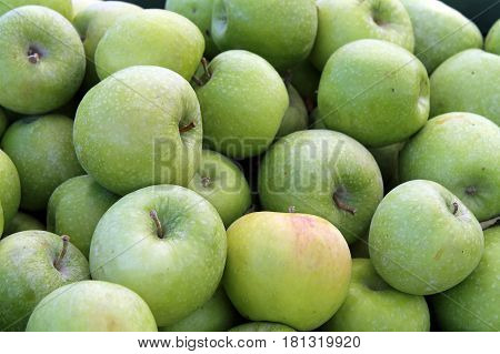Green Apples For Sale at the Farmers Market