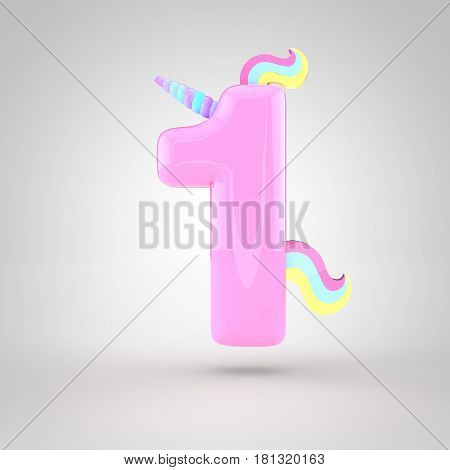 Cute Unicorn Pink Number 1