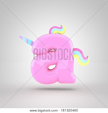 Cute Unicorn Pink Letter A Lowercase