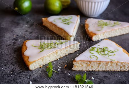 Key Lime Pie Slices