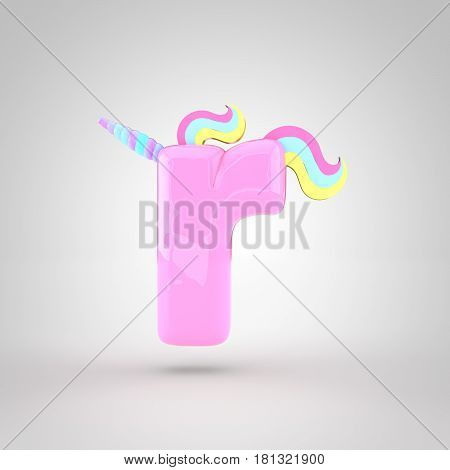 Cute Unicorn Pink Letter R Lowercase