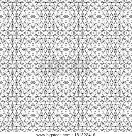 Black geometric pattern on a white background