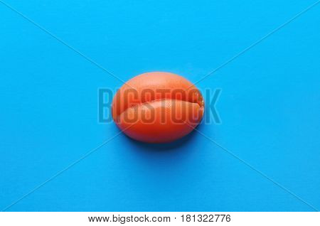 Apricot Sweet Marmalade Candy On Blue Background