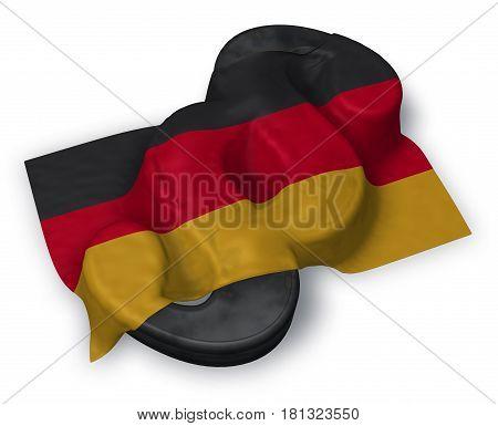 paragraph symbol and german flag - 3d rendering