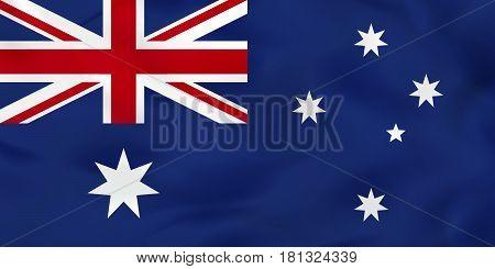 Australia Waving Flag. Australia National Flag Background Texture.