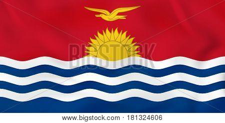 Kiribati Waving Flag. Kiribati National Flag Background Texture.