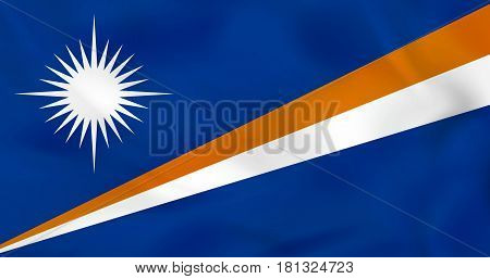 Marshall Islands Waving Flag. Marshall Islands National Flag Background Texture.