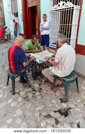 Men Playing Dominos - Trinidad, Cuba
