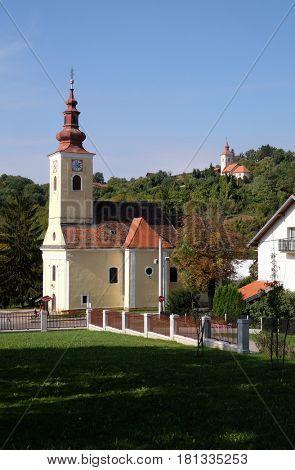 VUGROVEC, CROATIA - OCTOBER 02: Parish Church of Saint Francis Xavier in Vugrovec, Croatia on October 02, 2015
