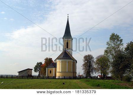 SISLJAVIC, CROATIA - JULY 10: Parish Church of Saint Joseph in Sisljavic, Croatia on July 10, 2007.