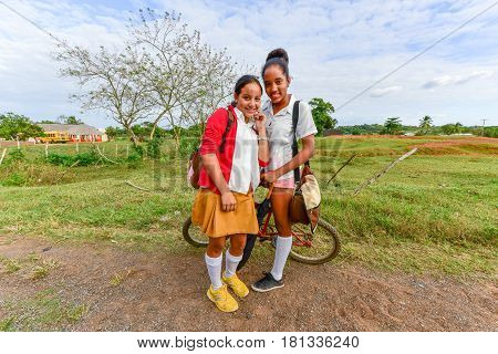 Cuban School Girls