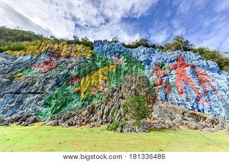 Prehistoric Mural - Vinales, Cuba