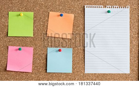 Time Management Concept With Reminder Papers On Cork Board