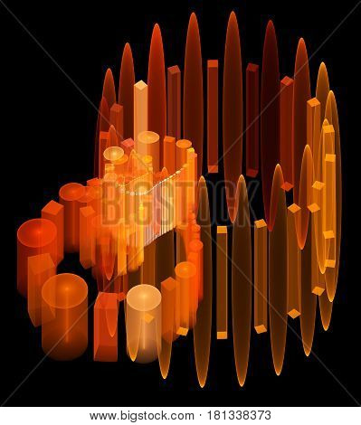 Colorful bstract fractal illustration for creative design