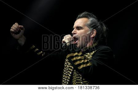 Padua Padova, Pd, Italy - March 29, 2017: Piero Pelu The Vocalist Of Litfiba An Italian Rock Band On