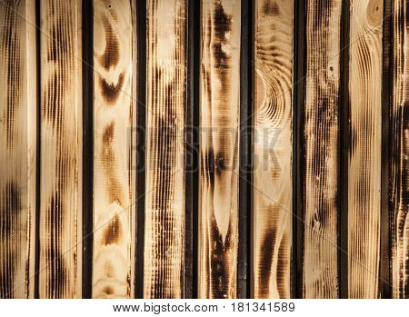 Grungy and dirty burned wooden plank