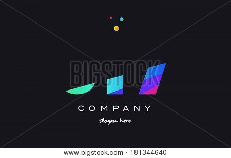 516 Colored Rainbow Creative Number Digit Numeral Logo Icon