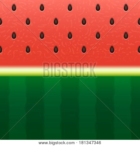 Seamless watermelon texture background. Vector illustration Eps 10