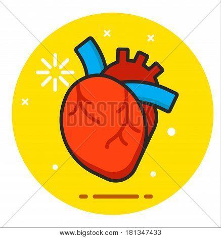 Heart human icon illustration design logo rasterized