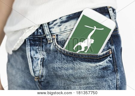 Animal On Smartphone Screen Concept