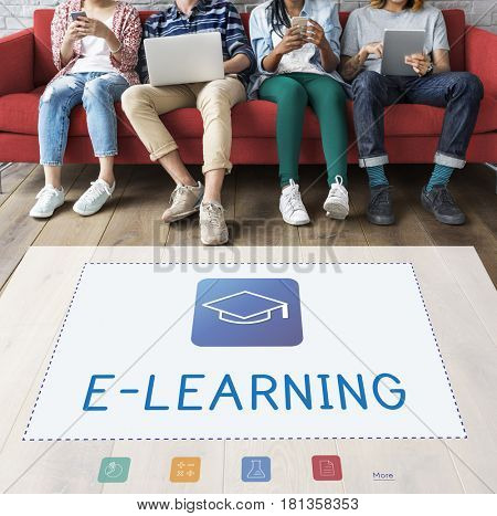 People electronic learning education knowledge