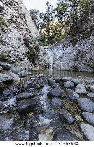 Switzer Falls in the San Gabriel Mountains near Los Angeles, California.