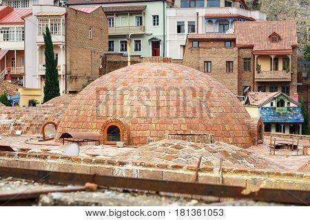 Old Sulfur Baths In Tbilisi, Georgia
