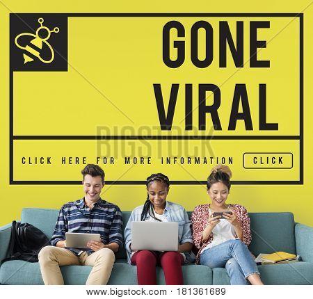 Gone Viral Internet Technology Concept