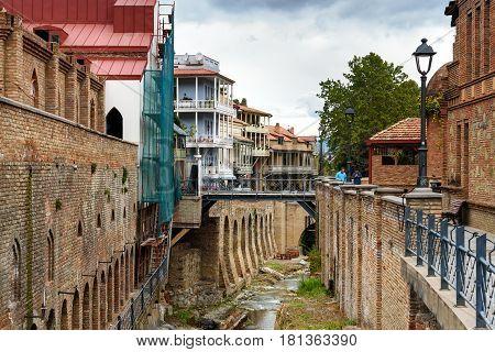 Abanotubani District In The Old Town Of Tbilisi. Georgia